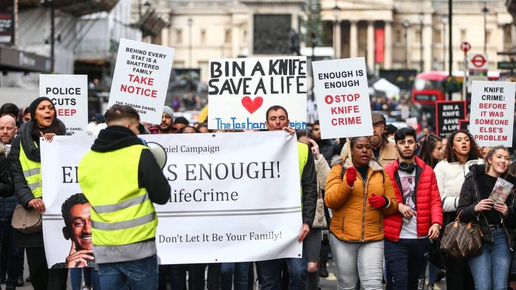 Knife crime protest