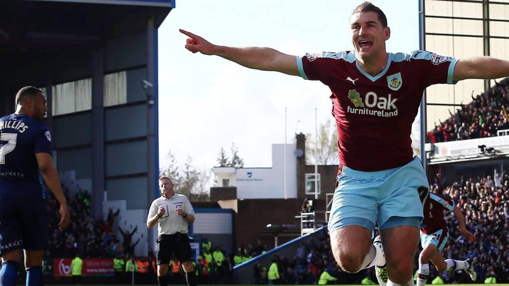 Burnley striker Sam Vokes HERO