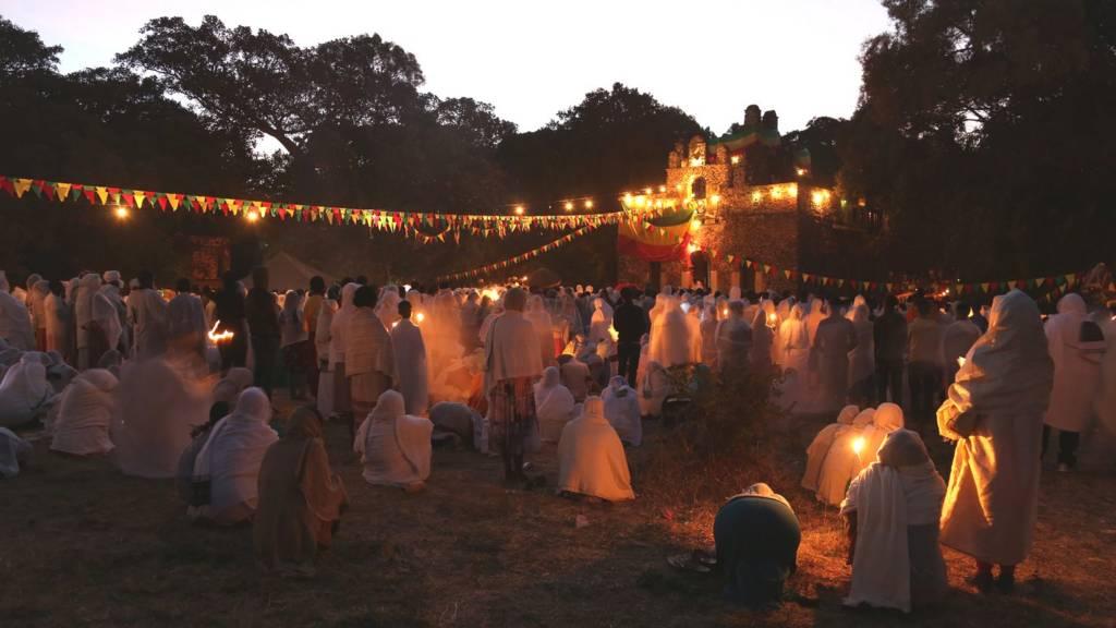 Timkat festival in Gondar