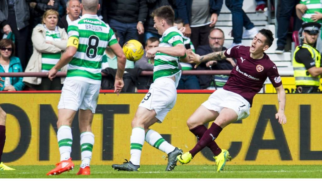 Hearts' Jamie Walker earned a penalty in the defeat by Celtic