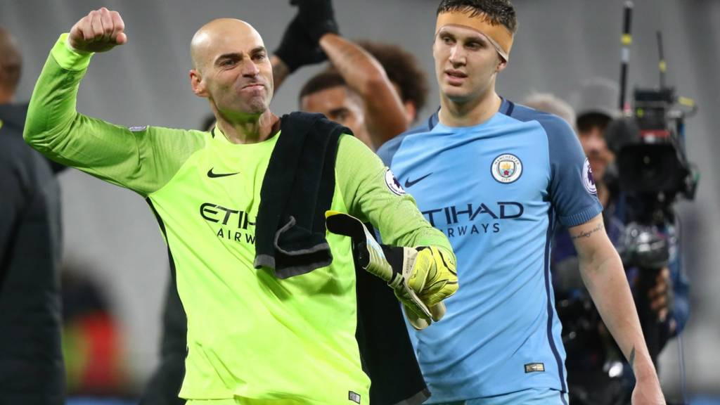 Willy Caballero reacts at full-time