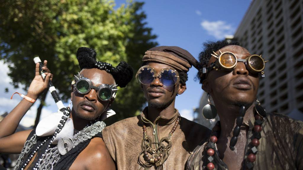 AfroPunk festival goers in South Africa - 31 December 2017