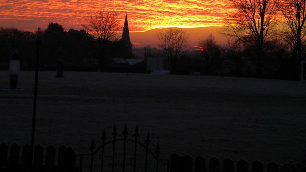 Sunrise above Market Harborough