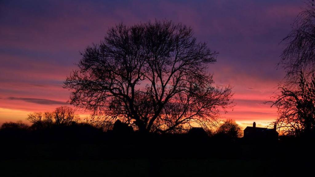 Winter sunset in Ratcliffe on the Wreake