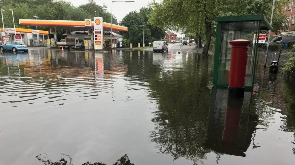 Garage in floods