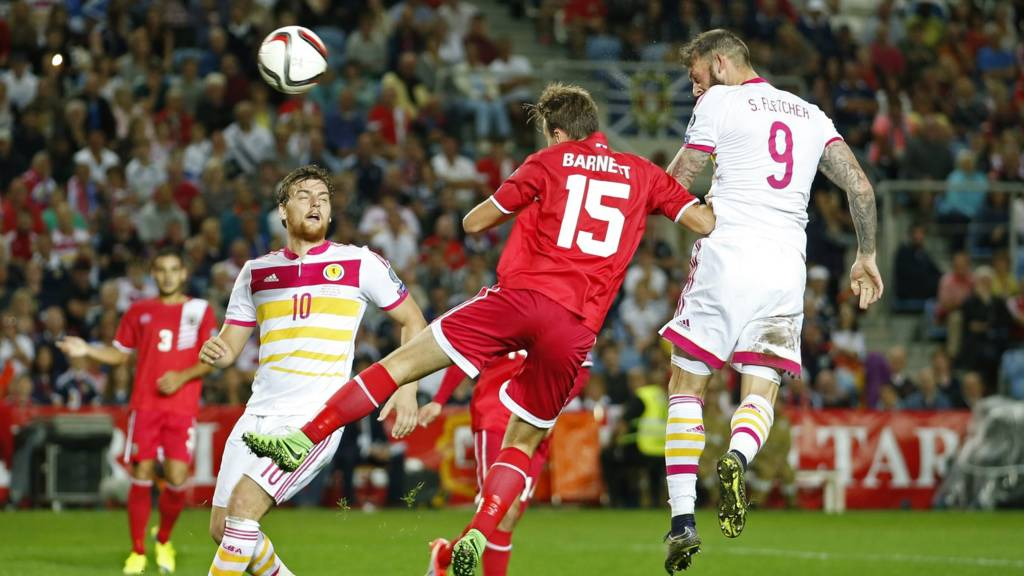 Steven Fletcher scores Scotland's third
