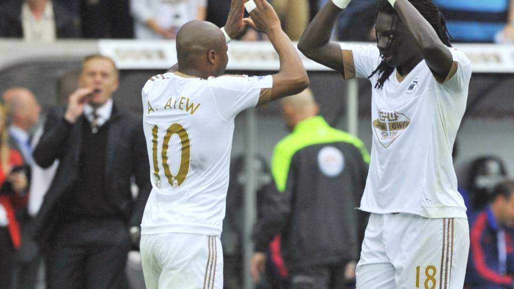 Andre Ayew and Bafetimbi Gomes