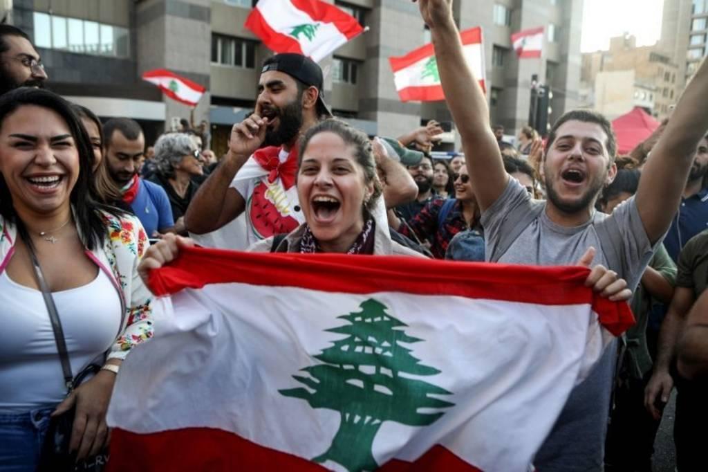 تظاهرکنندگان لبنانی
