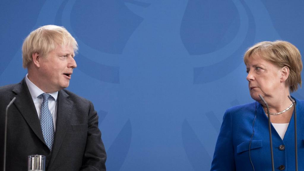 Boris Johnson and Angela Merkel