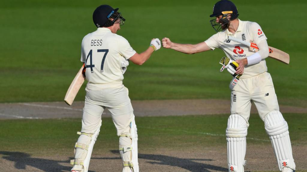 Dom Bess and Chris Woakes