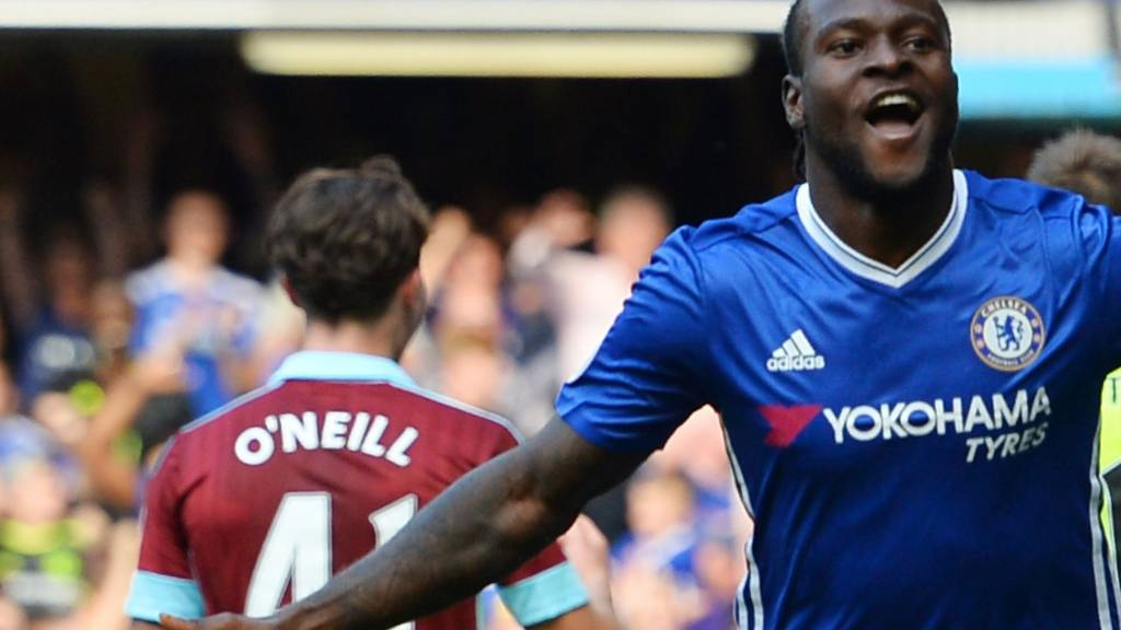 Victor Moses celebrates