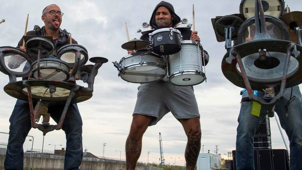 Drummers rehearsing