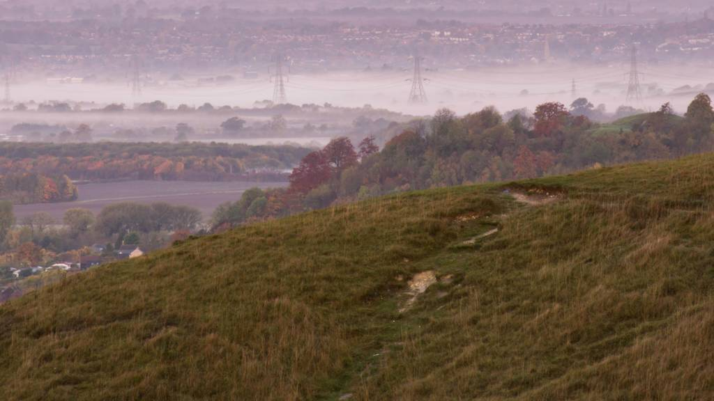 Misty view from Dunstable Downs