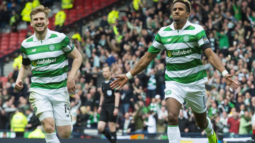 Stuart Armstrong and Scott Sinclair celebrate