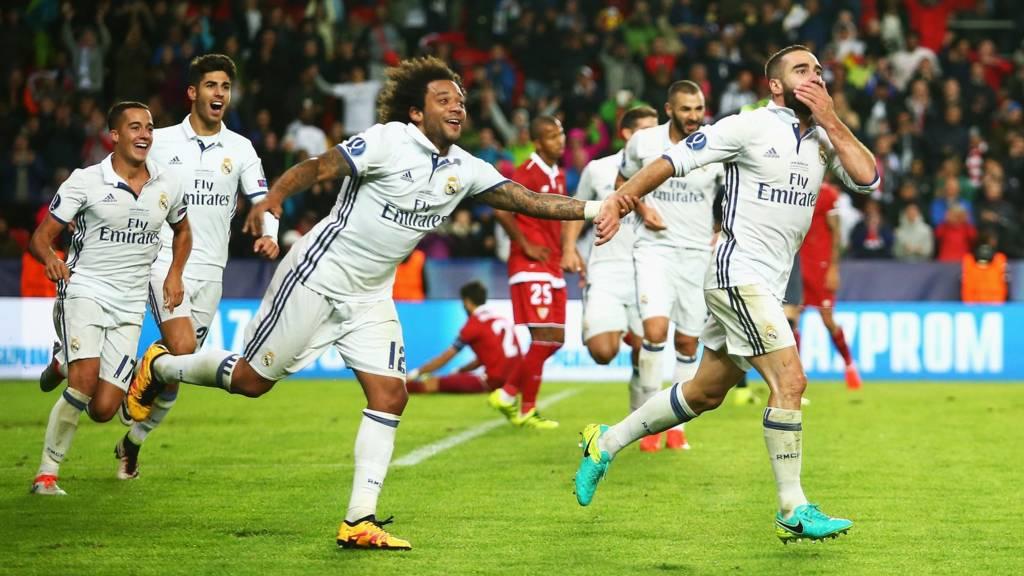 Dani Carvajal scores for Real Madrid