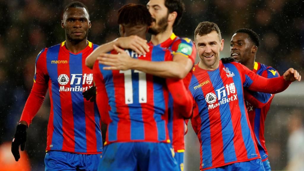 James McArthur and team mates celebrate