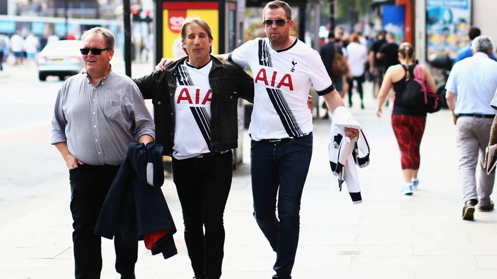 Tottenham fans ahead of the match