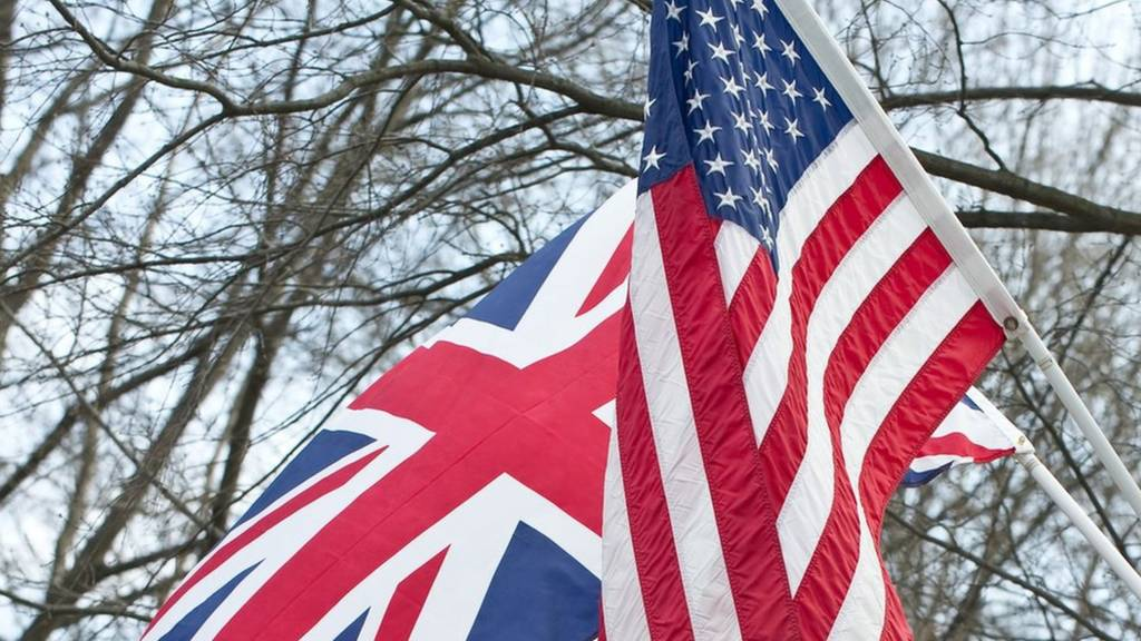 The UK and US flags