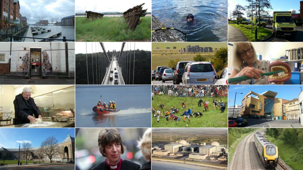 Montage of pictures from the West of England