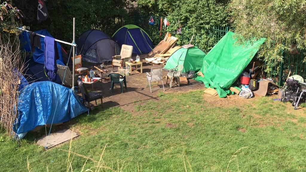 "Bristol ""tent city"""