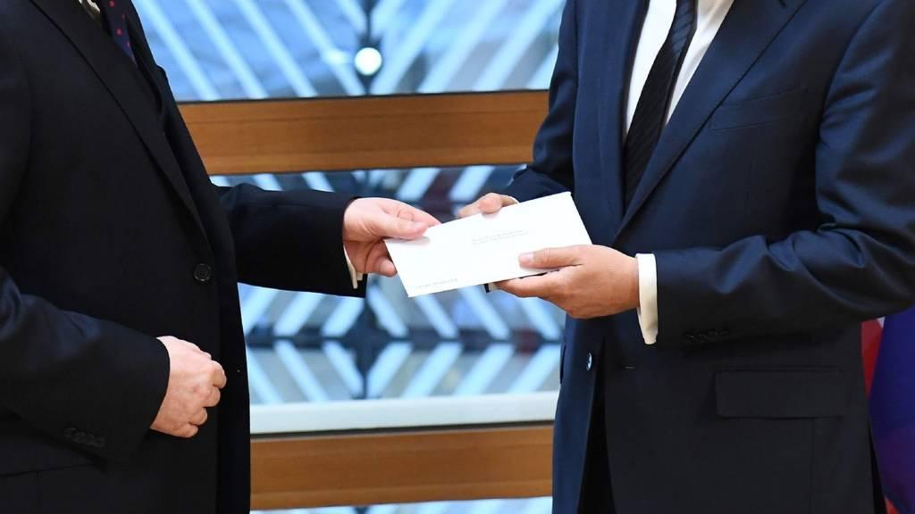 The UK's official Brexit letter is delivered