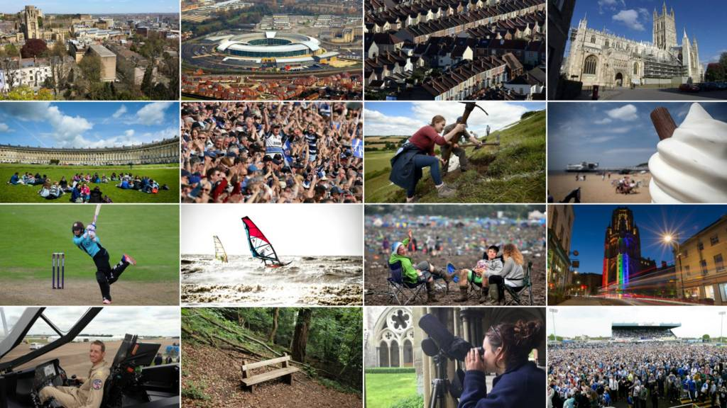 A montage of images from across the West of England