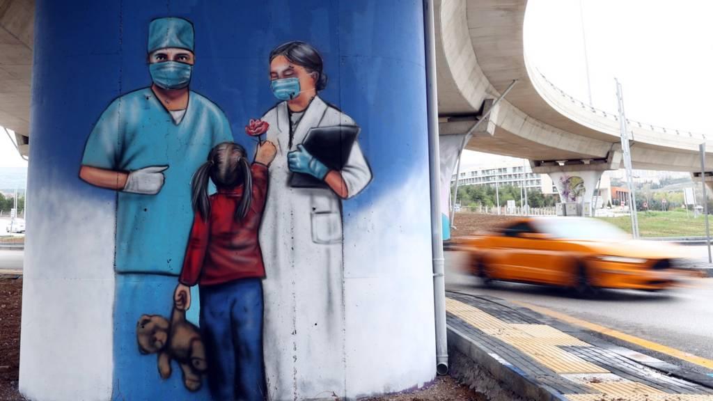 ankarada sağlık çalışanlarıyla ilgili sokak resmi