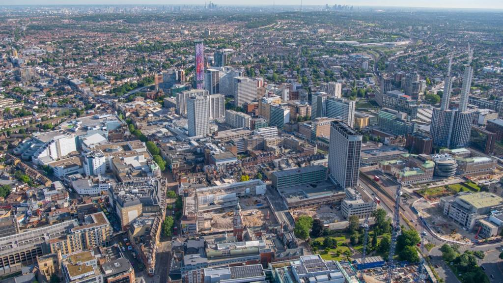 Aerial shot of Croydon