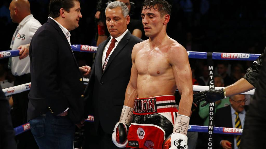 Anthony Crolla looks dejected