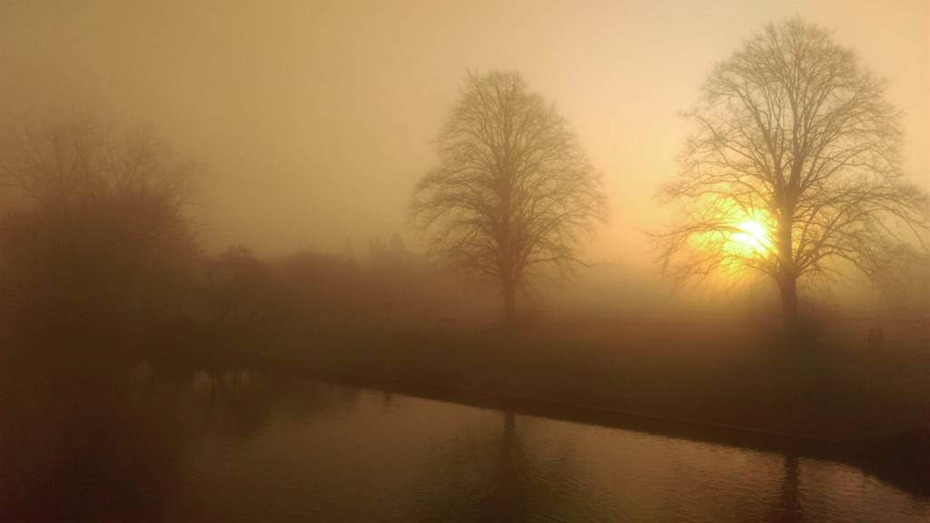 Misty river at St Neots