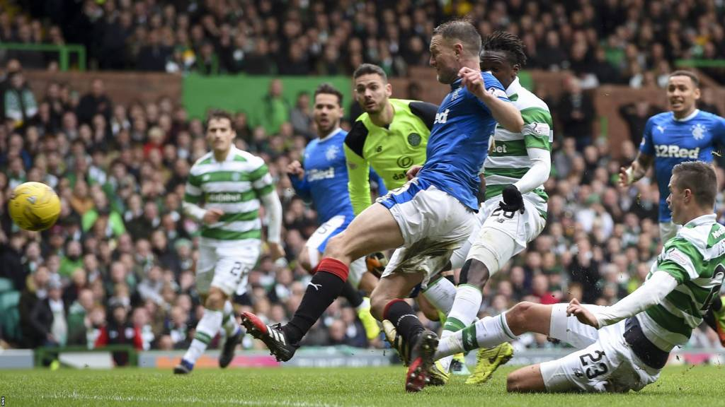 Clint Hill scores the equaliser for Rangers