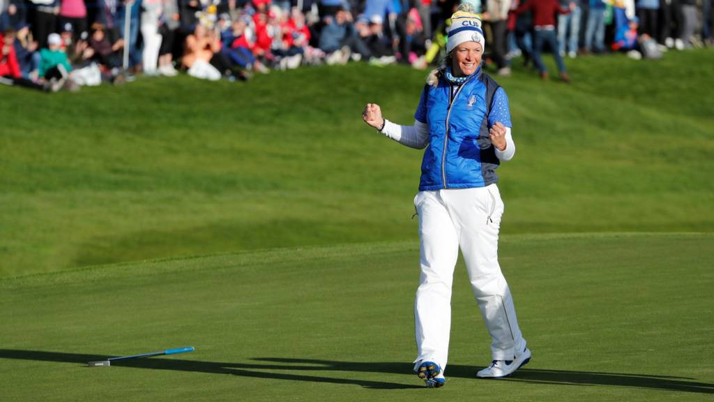 Solheim Cup Europe Beat Usa 14 13 To Win At Gleneagles Live Bbc Sport
