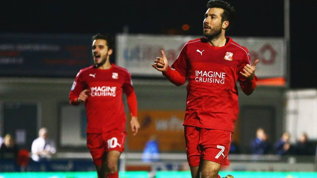 Michael Doughty of Swindon Town celebrates