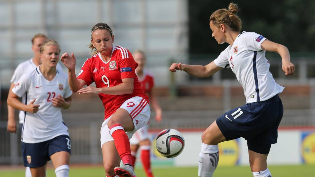 Wales' Kayleigh Green in action against Norway