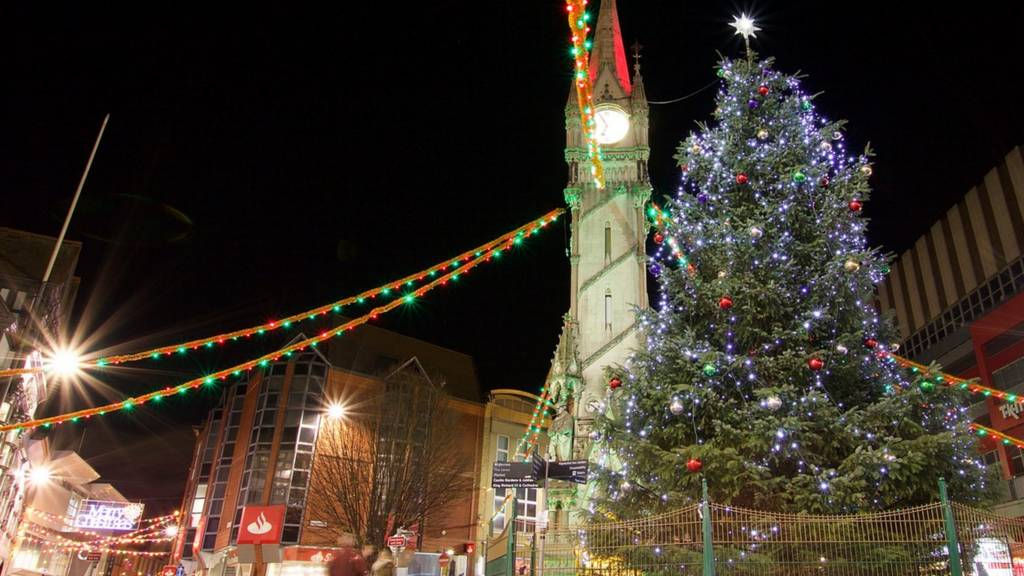 Christmas tree in Leicester
