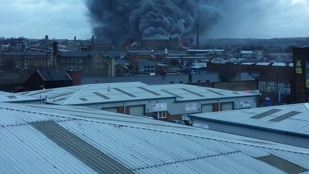 Mill fire in Bradford