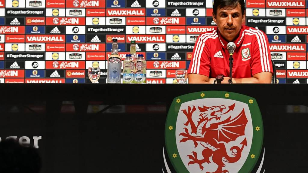 Wales manager Chris Coleman at a news conference