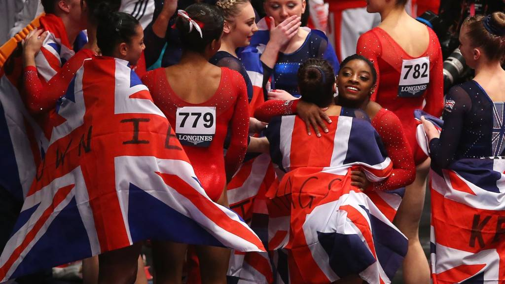 the GB team celebrate