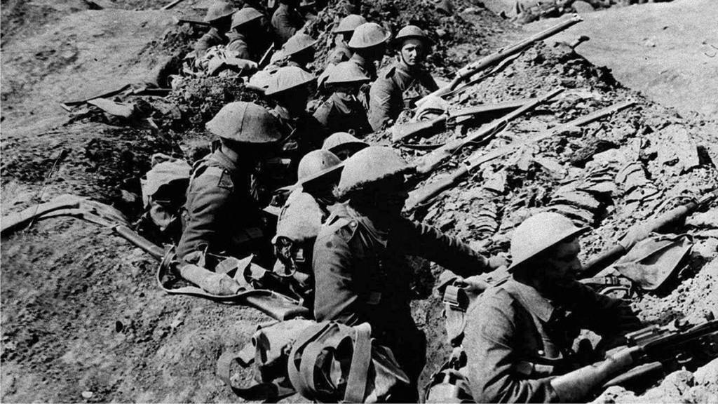 Soldiers in at the Somme