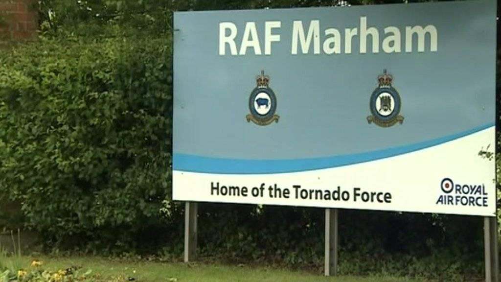 Entrance to RAF Marham