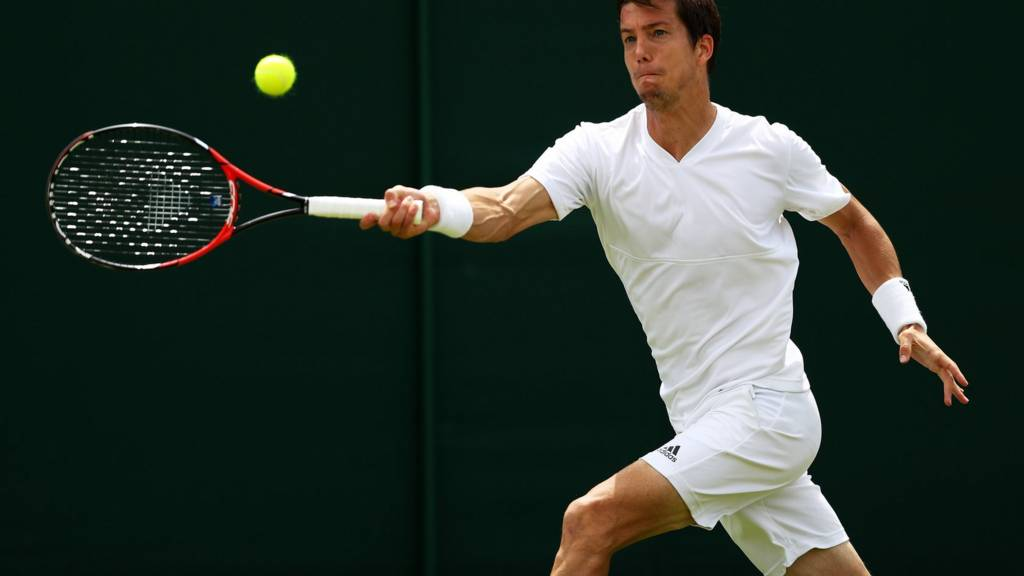 Aljaz Bedene of Great Britain