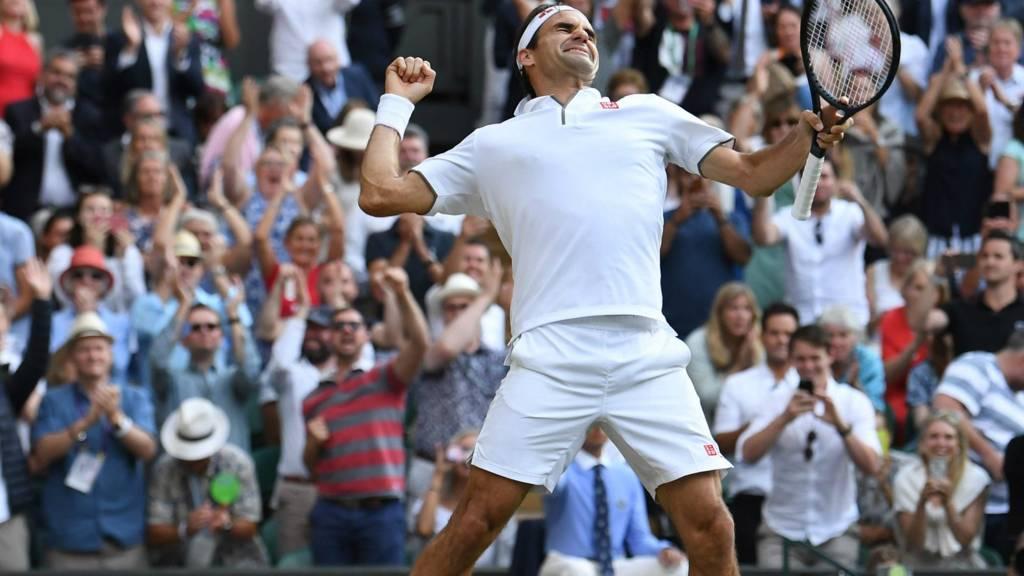 Roger Federer wins