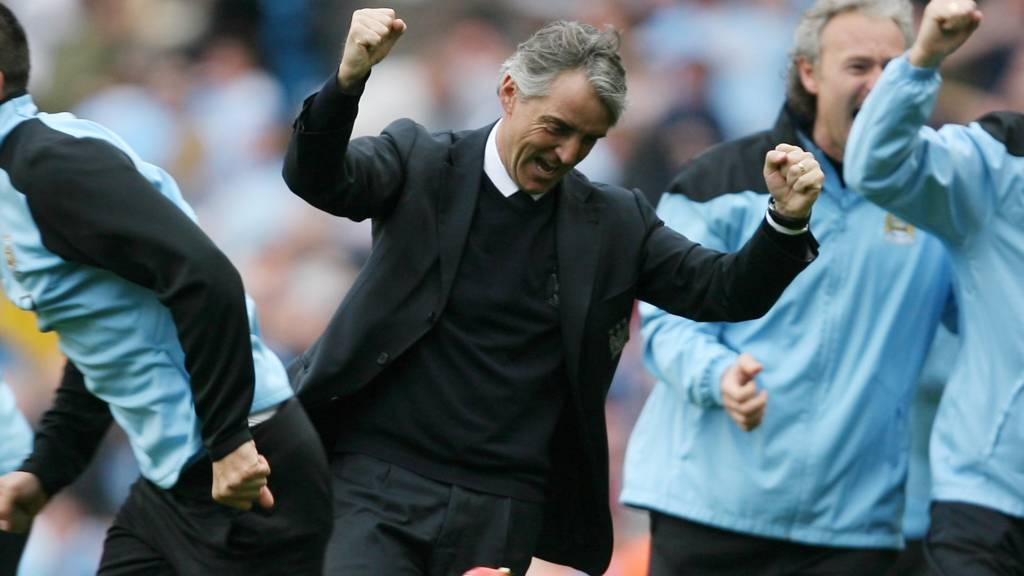 Roberto Mancini celebrates