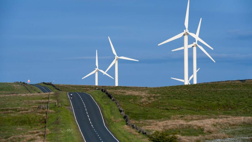Wind farm in Lancashire
