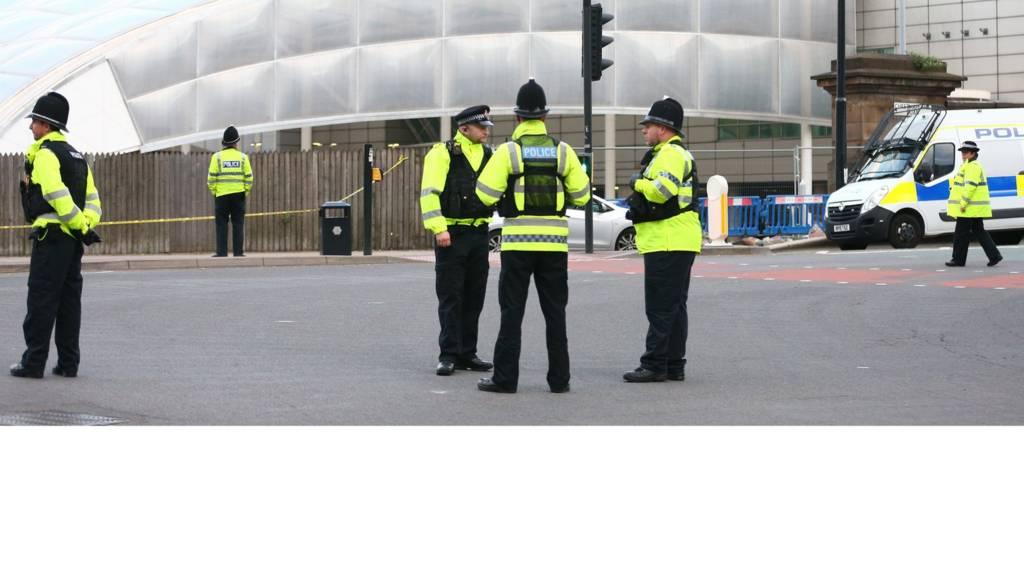 پلیس در منچستر
