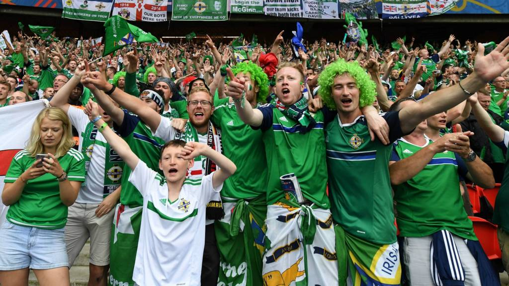 Northern Ireland fans celebrate