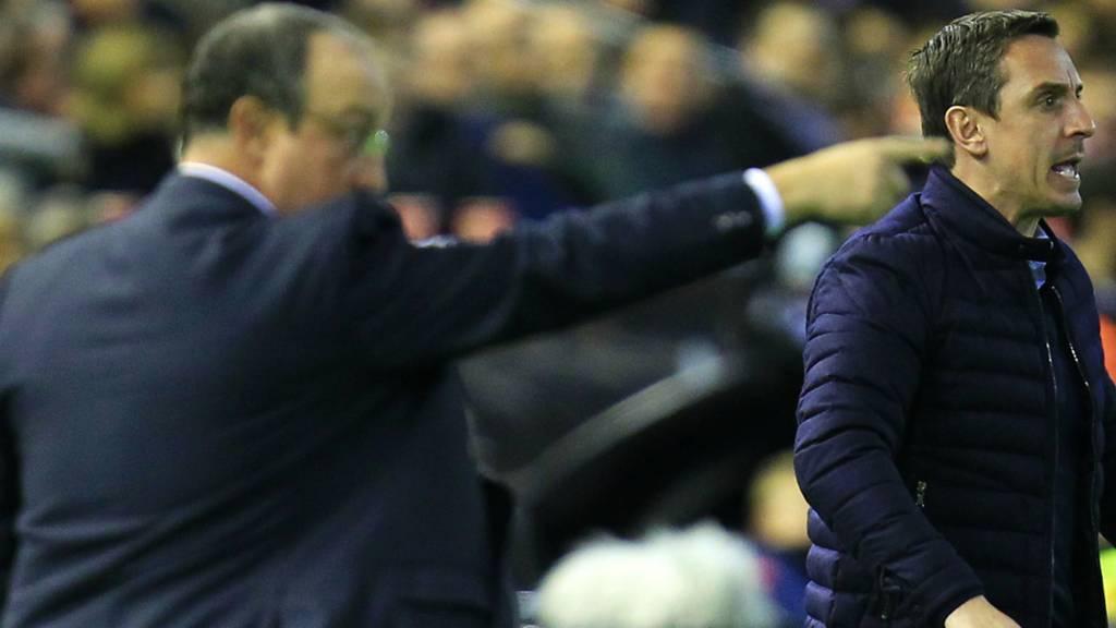 Gary Neville and Rafa Benitez