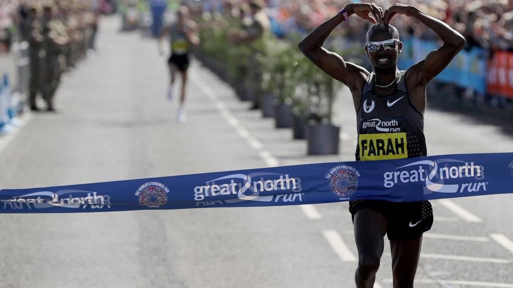 Mo Farah wins the Great North Run 2016