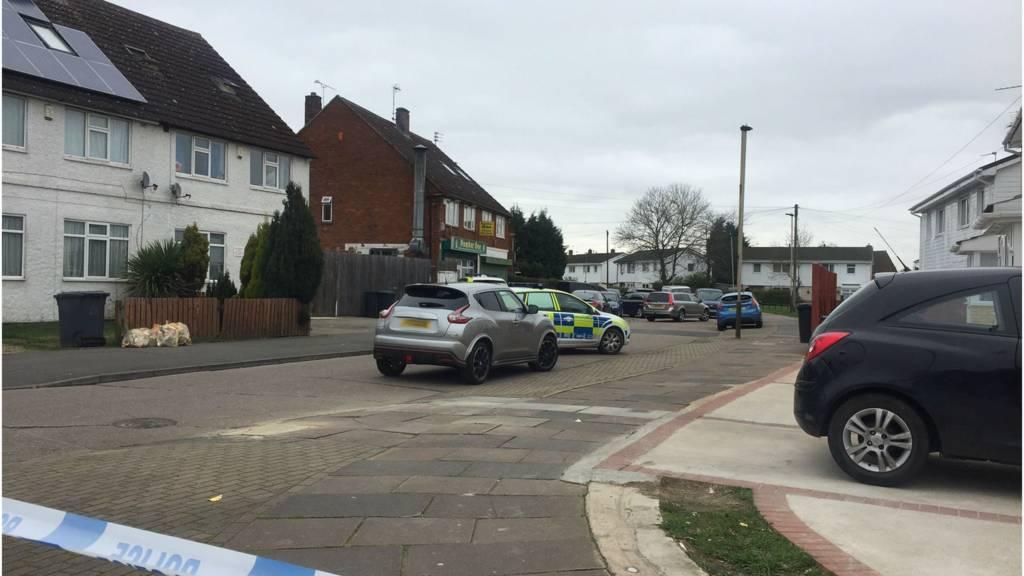 Police cordon on Keightley Road