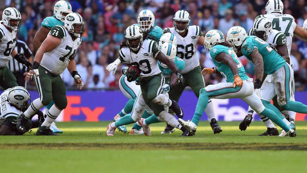 Chris Ivory with the ball for the New York Jets